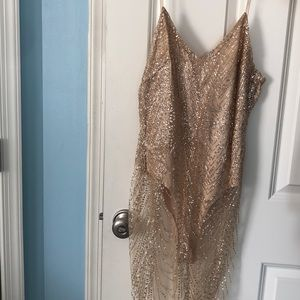 Sequins Bodysuit Dress